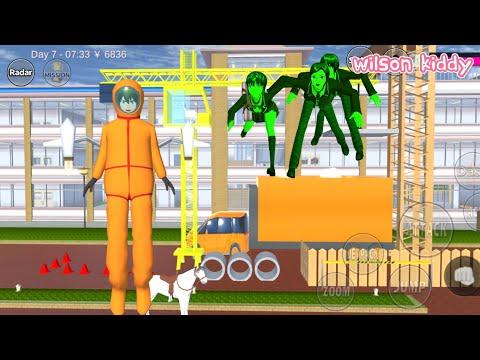 Takagi Dan Sakura Masukkan Zombie ke Dalam Truk 😄😁 | Sakura Simulator | Game Wilson Kiddy |