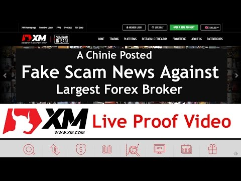 Fake Scam News Against Top Forex Broker Live Withdrawal Proof