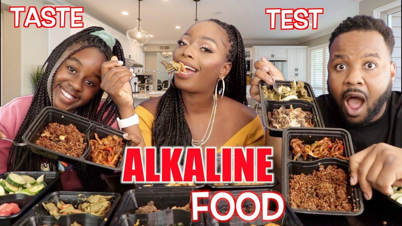 ALKALINE PLANT BASED FOOD TASTE TEST   MUKBANG
