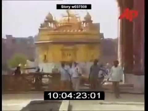 Operation Bluestar FULL  Live Video Golden Temple 1984
