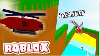 ¡Cómo hacer el GLITCH HELICOPTER! Construir un barco para el tesoro ROBLOX