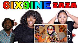 6IX9INE - ZAZA (Official Music Video) REACTION VIDEO!!