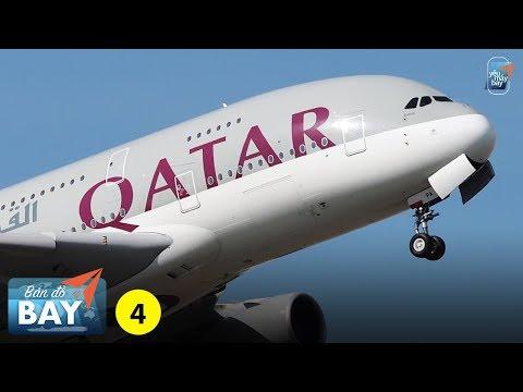 BẢN ĐỒ BAY #4: Qatar Airways và đường bay đến Việt Nam | Yêu Máy Bay