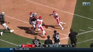 Rookie Josh Jacobs Turns The Jets On In This 51 Yd Run Against The Chiefs (WEEK 2 NFL 2019)