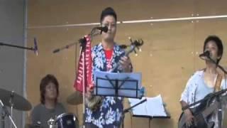 大正村スチャラカバンドがよっちんと、平成22年8月15日に行われた、瑞浪...