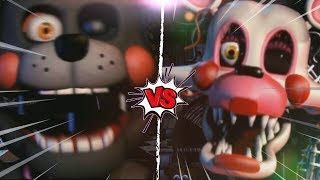 LEFTY VS MANGLE - La Liga de FNAF | FIVE NIGHTS AT FREDDY'S ULTIMATE CUSTOM NIGHT (J1)
