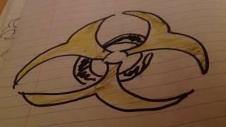 How to Draw a Bio-Hazard Symbol