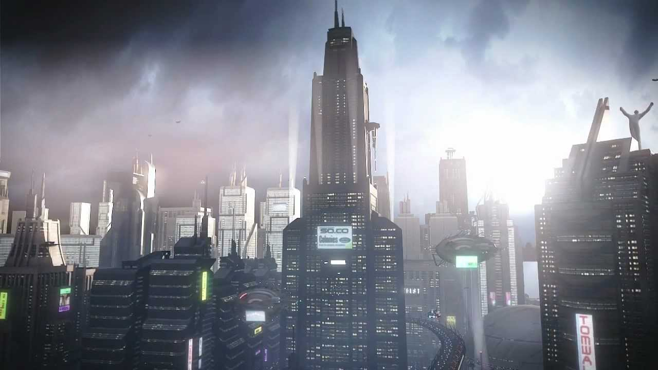 Sci Fi City Animated Concepts Blender 3d Study Year 3