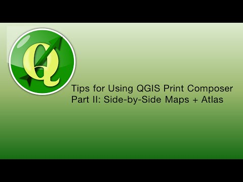 QGIS Print Composer: Side-by-Side Maps and Atlas