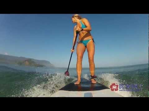 Competitive Stand-Up Padder Laura Birse - KVICTV, myKauai.com [Faces of Kauai]