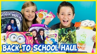 BACK TO SCHOOL HAUL! INSIDE OUT, DESCENDANTS, SHOPKINS, MINIONS, STAR WARS by PLP TV