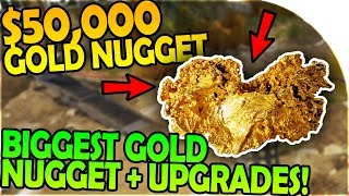50,000 gold nugget is ours! - biggest gold nugget found + mine upgrade- gold rush the game gameplay