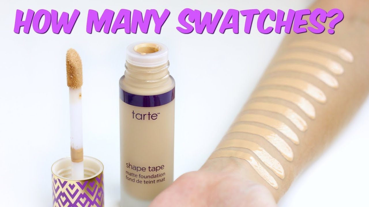 how to choose tarte shape tape shade