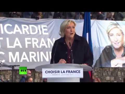 Marine Le Pen tient son dernier meeting à Ennemain avant l'échéance du 7 mai (Direct du 4.05)