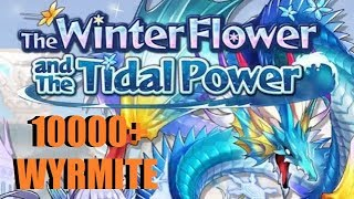 Dragalia Lost - The Winter Flower & The Tidal Power Over Banner 10,000 Wyrmite & Loyalty's Requiem
