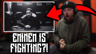EMINEM IS FIGHTING SOMEONE | RAPPER REACTS to Eminem - Higher (Official Music Video)