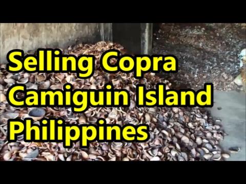 Selling Copra Camiguin Island Philippines