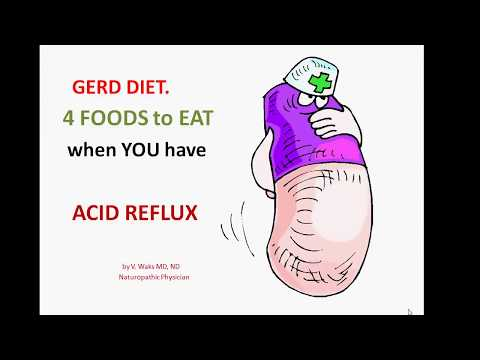 GERD DIET. 4 FOODS to EAT when YOU HAVE ACID REFLUX.