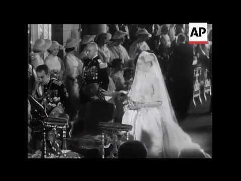 Grace Kelly weds Prince Rainier III in Monaco - 1956