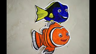 Cartoon fish Drawing Dory