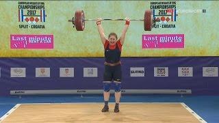 2017 European Weightlifting Championships Women 90 kg \ Тяжелая атлетика Чемпионат Европы [1080]