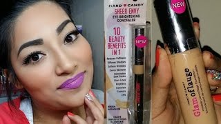 NEW Hard Candy Glamoflauge Foundation + NEW Hard Candy Eye Brightening Concealer First Impressions