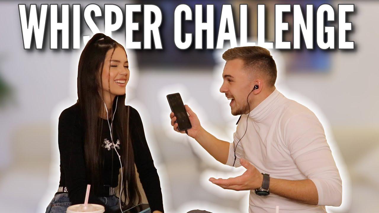 Whisper Challenge 😂 w./ Amina Efendić | Davor Gerbus