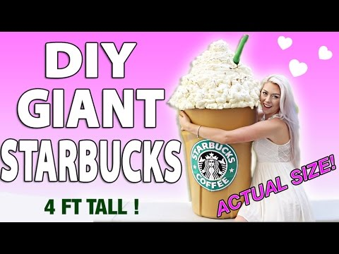 diy giant starbucks how to make a 4 ft tall frappuccino storage bin