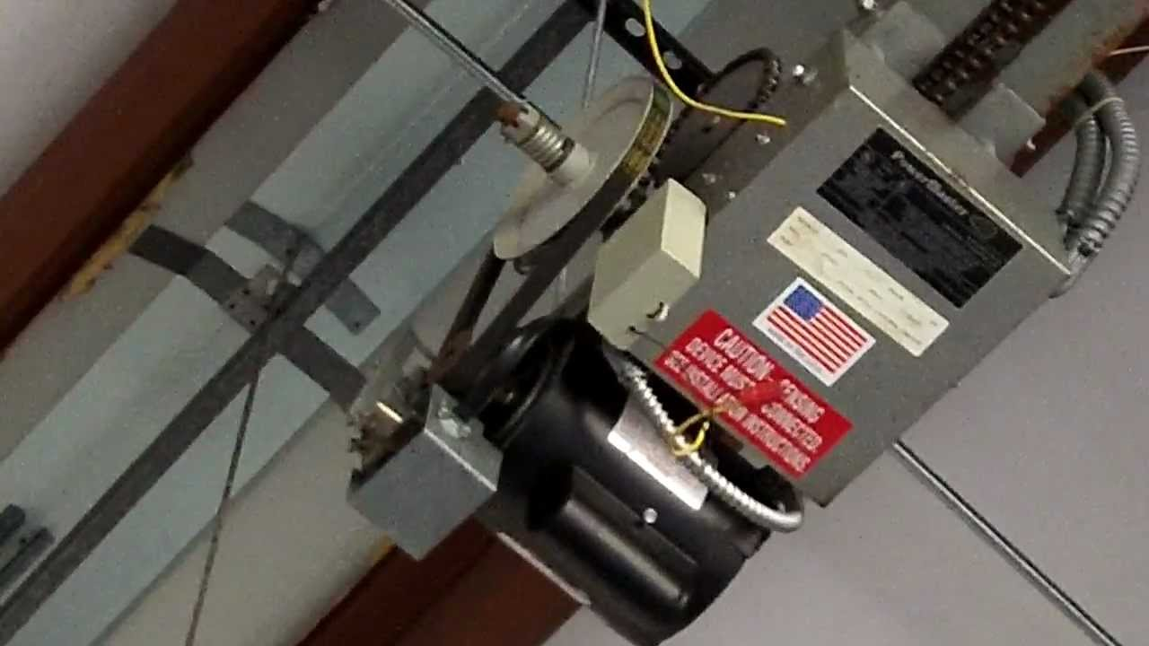 Commercial Garage Door Opener Wiring Schematics Diagrams How To Wire A We Fixed Powermaster In Chicago Rh Youtube Com Liftmaster