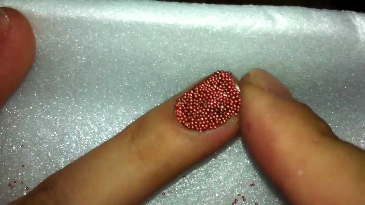 Uñas Decorado Caviar Youtube