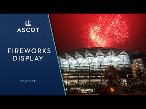 Fireworks display at Ascot