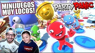 Una Ballena Loca Nos Come  | Reto de Comida en Party Panic | Juegos Karim Juega