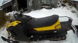 Покатушка на снегоходе тикси 250.Выжил ли снегоход?