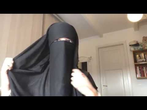 Niqab tutorial with eyebrows covered