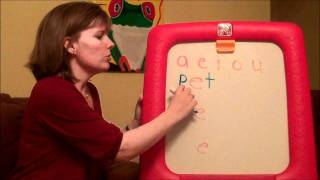 How to teach a child to read: Three letter words