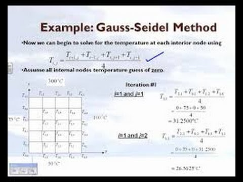 Gauss-Seidel iteration method from YouTube · Duration:  6 minutes 21 seconds