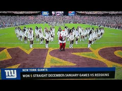 Steve Knoll - Santa Busts a Move with Redskins Cheerleaders