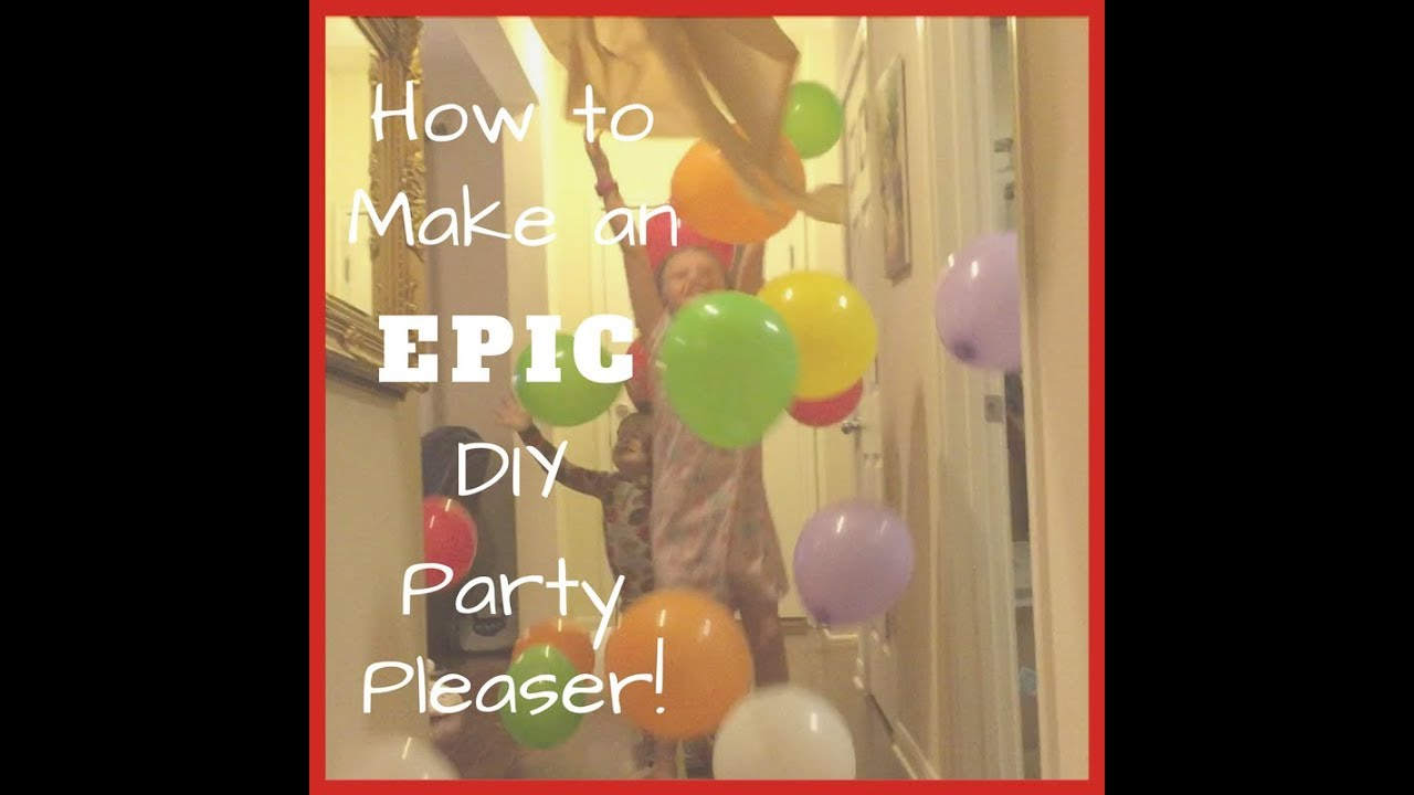 How to make an easy DIY balloon drop YouTube