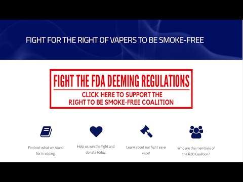 Exclusive w/ Law Office behind Vaping vs FDA, the biggest fight yet.