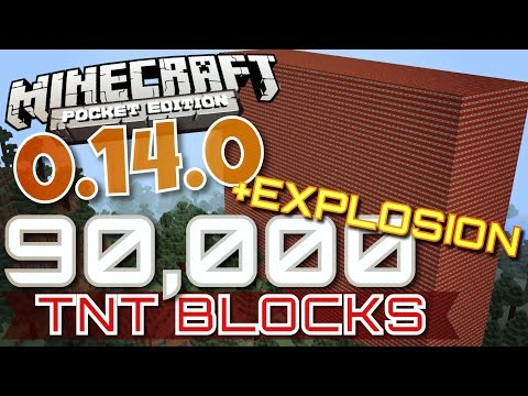 ✔️Minecraft PE 0.14.0 - 90,000+ TNT BLOCK EXPLOSION! ||  Huge TNT Explosion In MCPE 0.14.0