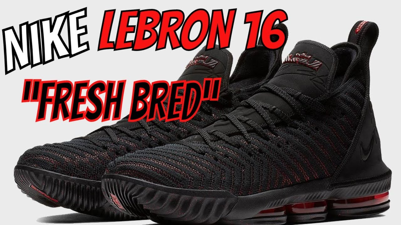 "new arrival fd90c 33a3f NIKE LEBRON 16 ""FRESH BRED"" IN STORE SNEAKER REVIEW - YouTube"