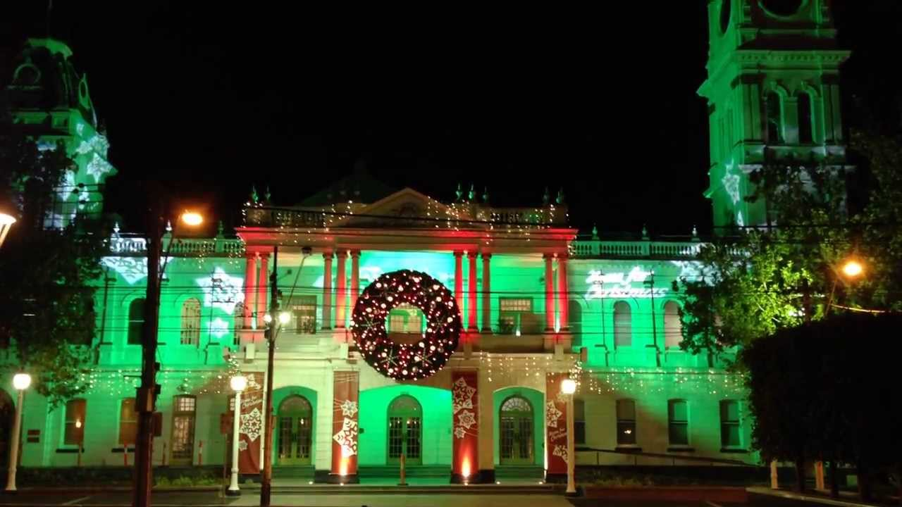 Malvern Christmas Lights 2020 Christmas Lights @ Malvern Town Hall, Melbourne   YouTube