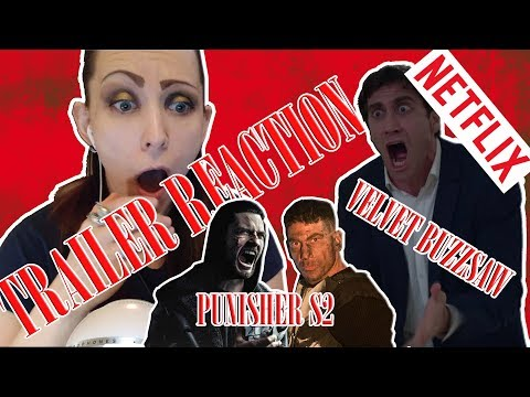 Lily K watches Punisher Season 2 and Velvet Buzzsaw - REACT SATURDAY