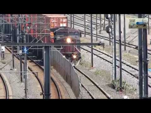 GE AC4400CW 4539 Ferrosur ex FXE in Valle de  Mexico Freight train