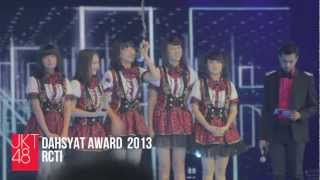 Video JKT48 at DahSyatnya Awards 2013 download MP3, 3GP, MP4, WEBM, AVI, FLV November 2018