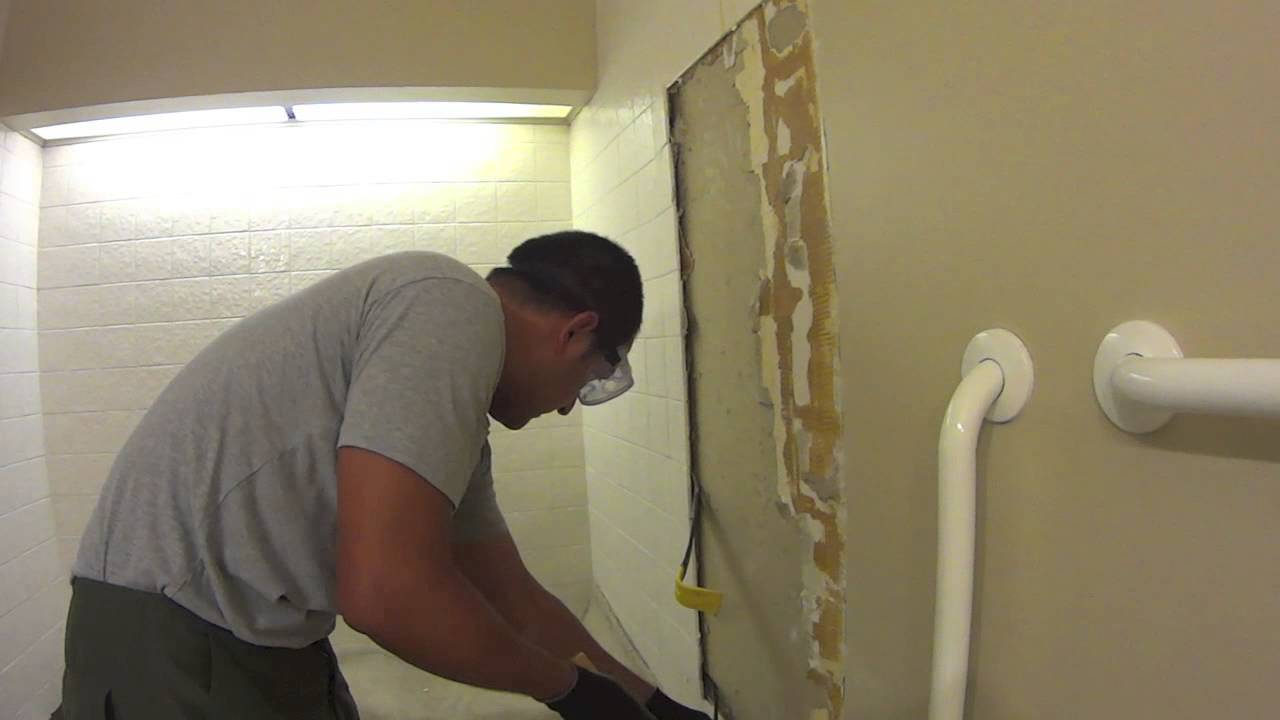 remodeling a bathroom.  DIY For The Average Guy Bathroom Remodel Weekend 01 YouTube