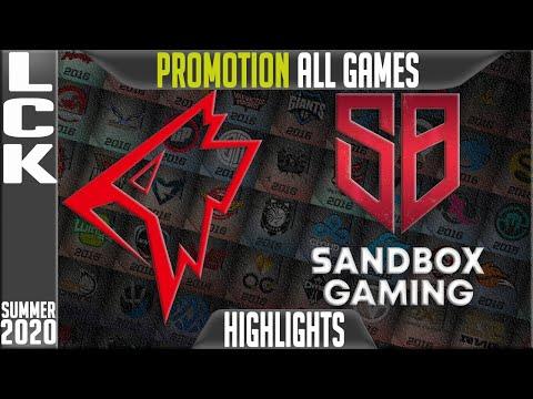 SB vs GRF Highlights ALL GAMES | LCK Summer 2020 Promotion | Sandbox Gaming vs Griffin