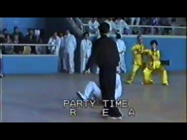 Zheng Xudong - Tuishou du Tai Chi style Chen Laojia [陈氏太极拳老架 Taijiquan style Chen] Luoyang 1989