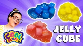 Craft Jelly Cube Slime | Arts and Crafts with Crafty Carol | Cartoon Stories for kids