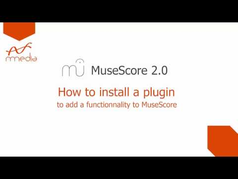 MuseScore 2 0 : How to install a plugin
